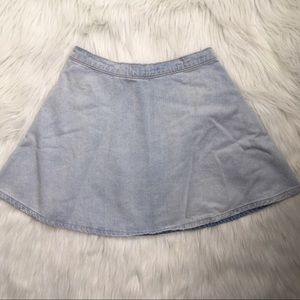 Bullhead Skirts - Bullhead Light Wash Denim Skirt